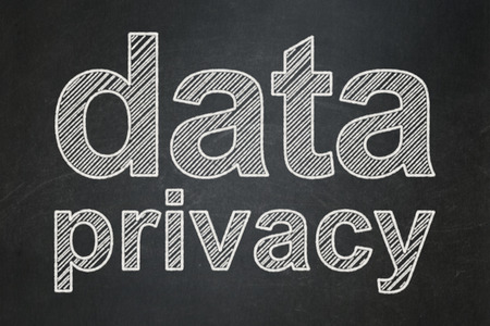 Security concept: text Data Privacy on Black chalkboard background