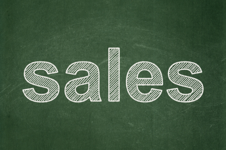 Marketing concept: text Sales on Green chalkboard background