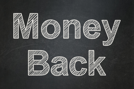 Finance concept: text Money Back on Black chalkboard background