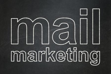 Marketing concept: text Mail Marketing on Black chalkboard background Banco de Imagens