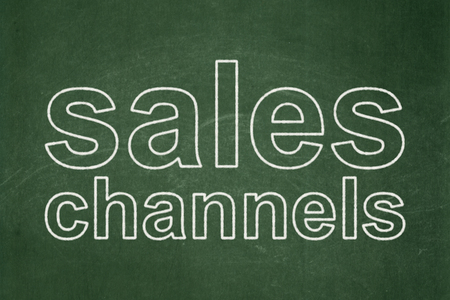 Marketing concept: text Sales Channels on Green chalkboard background