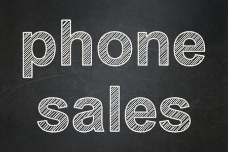 Marketing concept: text Phone Sales on Black chalkboard background