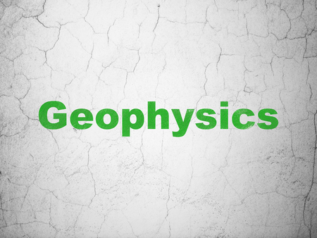 Science concept: Green Geophysics on textured concrete wall background