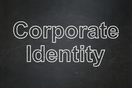 Business concept: text Corporate Identity on Black chalkboard background