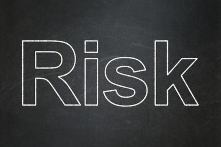 Finance concept: text Risk on Black chalkboard background