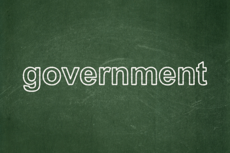 Politics concept: text Government on Green chalkboard background