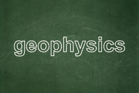 Science concept: text Geophysics on Green chalkboard background Stock Photo