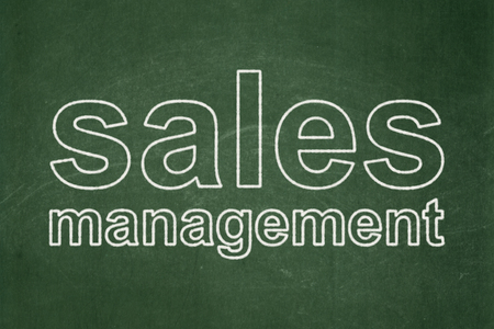 Advertising concept: text Sales Management on Green chalkboard background