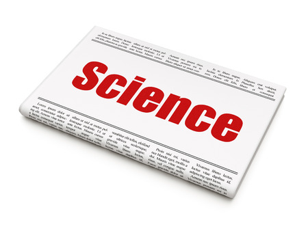 Science concept: newspaper headline Science on White background, 3D rendering