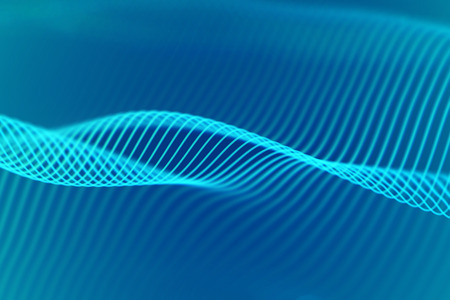 3D Sound waves. Big data abstract visualization. Digital technology concept: virtual landscape. Futuristic background. Blue sound waves, visual audio waves equalizer, EPS 10 vector illustration. Imagens - 127459343