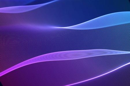 3D Sound waves, visual audio equalizer. Big data abstract visualization. Blue-pink bright sound waves. Digital technology concept: virtual landscape. Modern background. EPS 10 vector illustration. Imagens - 127138968