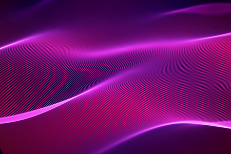 3D Sound waves, visual audio equalizer. Big data abstract visualization. Red bright sound waves. Digital technology concept: virtual landscape. Modern background. EPS 10 vector illustration. Imagens - 127138980