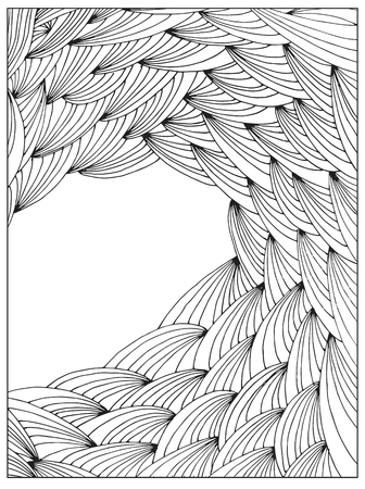 Hand drawing Difficult Abstract book page frame vector