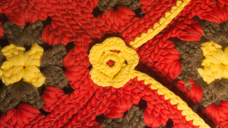 Handmade kniting wool background