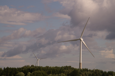 Wind turbine generating electricity backgrounond