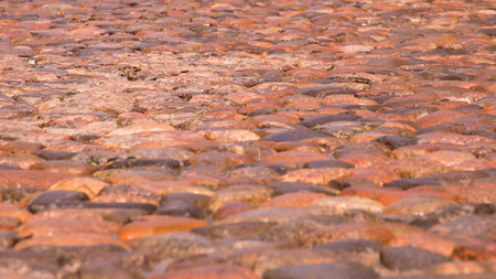 Stone road cobble texture background