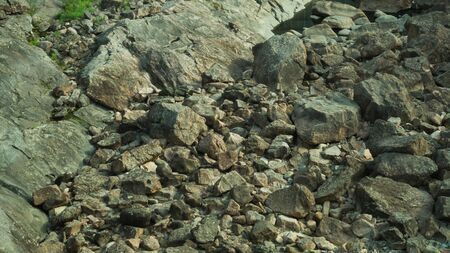 Rocky abstract background. stones in the dry course backdrop Stockfoto