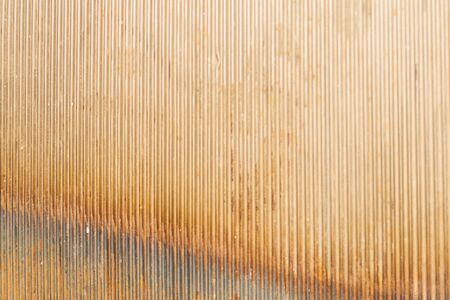 Old ribbed metal texture. corrugated steel background Banque d'images - 129827741
