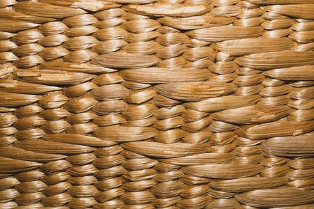 Woven texture. seamless texture of basket surface. wooden vine wicker straw basket. handcraft weave texture