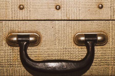 Retro suitcases. old luggage. vintage baggage. retro case background 写真素材 - 129828092