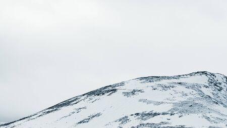 Snowy mountain landscape background. snowy hills background