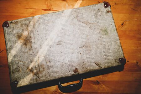 Old suitcase. classic luggage. vintage baggage. retro travel case