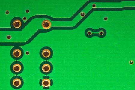 Electronic circuit board abstract background. computer motherboard close up. modern technologies. micro elements of computer with connections and traces. Intelligent technology