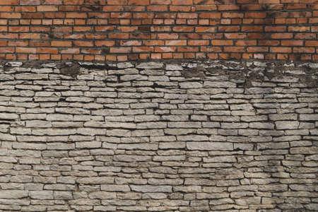 Brick wall. stone wall background. abstract grunge texture. old masonry