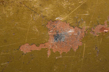 Rusty steel texture. rough metal plate with marks and scratches. painted iron background
