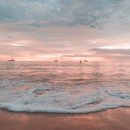 Beautiful sunset on a beach