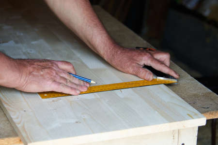 tools for working with wood in a carpenters workshop