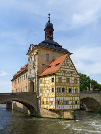 showplace: City hall in Bamberg. Bavaria. Germany.