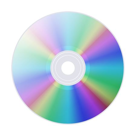 blueray: CD (DVD) isolated on white Stock Photo