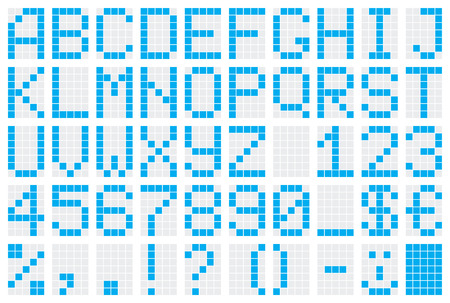 dot-matrix display with alphabet and numbers Stock Vector - 4502824