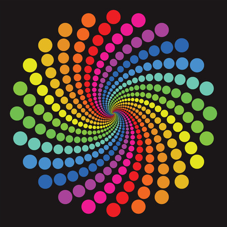 rainbow colours: colorful circle pattern