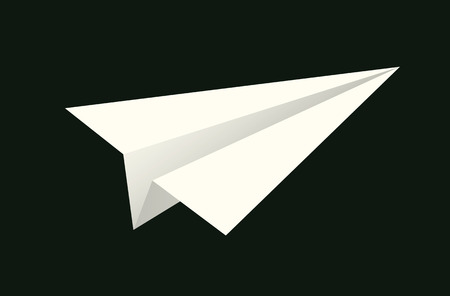 handmade paper plane on black