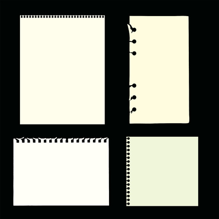 vector illustration of blank pages