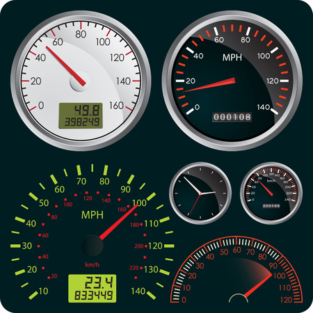 Vector Illustration of Dashboard Dial Vector