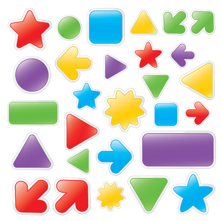 Buttons Stock Vector - 4520124