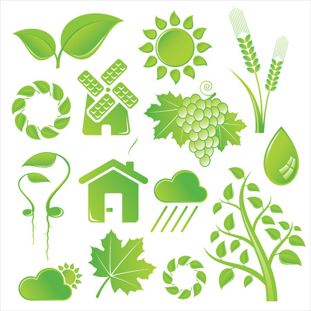 nature icons Stock Vector - 4502844