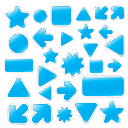 vector illustration of blue web buttons Stock Vector - 4502842