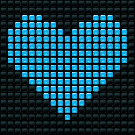 vector illusrtation of dotted heart Stock Vector - 6994217