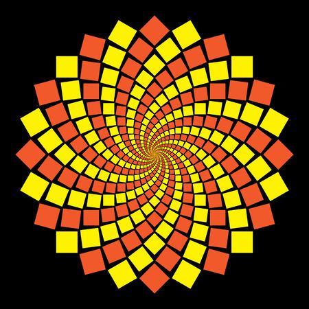 circular pattern on black background Vector