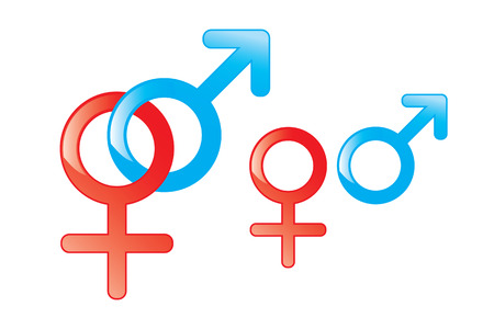 male and female symbols on white background Stock Photo - 6994228