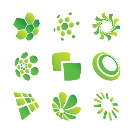 set of green design elements Vector