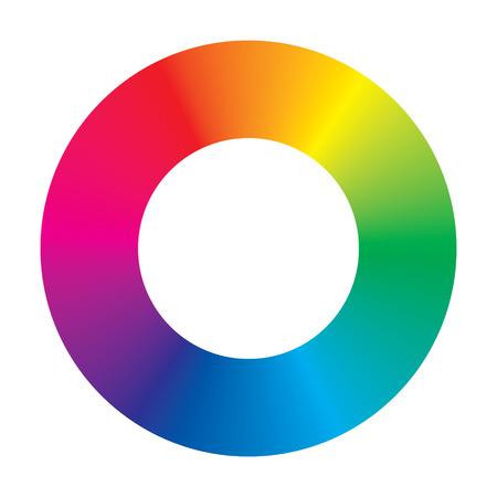 circulos concentricos: rueda de color sobre fondo blanco