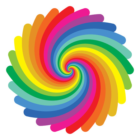 spectral color: colorful circle pattern on white background