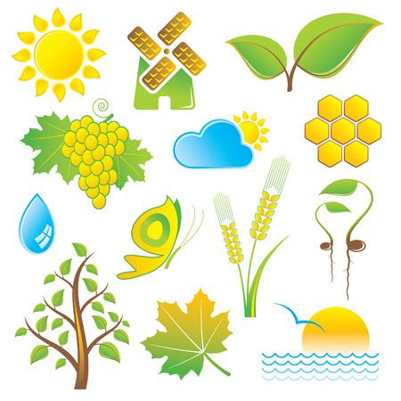 windmill: set of nature icons Illustration