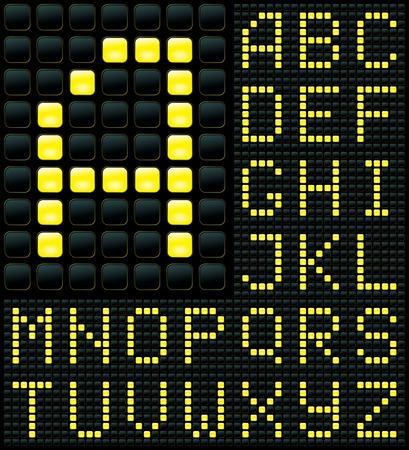 dot matrix display with alphabet