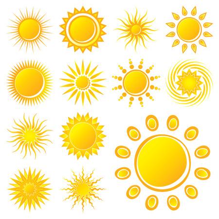 słońce: Słońca na białe tło